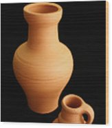 Small Pottery Items Wood Print