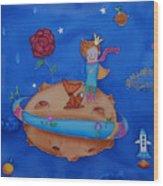 Small Prince Wood Print
