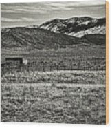Small Ranch Colorado Foothills Wood Print