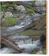 Small Rapids Wood Print