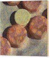 Small Round Stones Wood Print