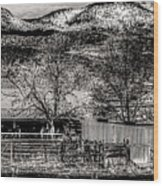 Small Stable Loveland Colorado Wood Print