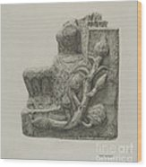 Small Stone Fountain Wood Print
