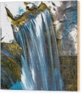 Small Stop Motion Waterfall Wood Print