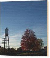 Small Town Autumn Wood Print