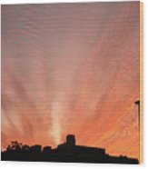 Small Town Sunset Wood Print