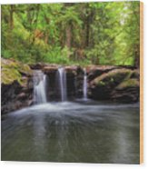 Small Waterfall At Rock Creek Wood Print