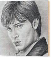 Smallville  Tom Welling Wood Print