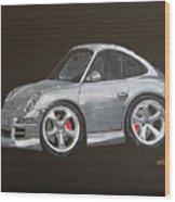 Smart Porsche Wood Print