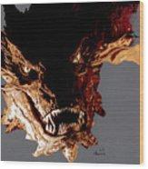 Smaug The Terrible Wood Print