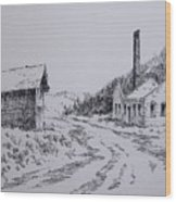 Smelter Ruins Glendale Ghost Town Montana Wood Print