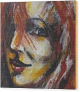 Smile - Portrait Of A Woman Wood Print