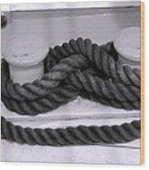 Smiley Rope Wood Print