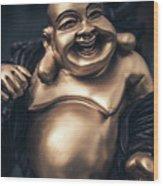 Smiling Buddha Wood Print