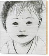 Smiling Child Wood Print