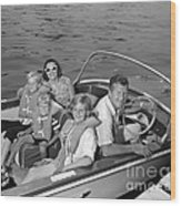 Smiling Family In Docked Boat, C.1960s Wood Print