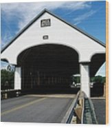 Smith Covered Bridge - Plymouth New Hampshire Usa Wood Print