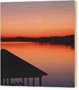 Smith Mountain Sunset Wood Print
