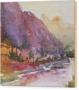 Smith Rock Fall Morning 1 Wood Print