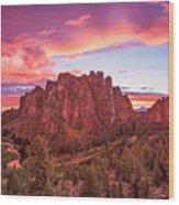Smith Rock Sunset Wood Print