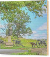 Smiths Battery Devils Den Gettysburg Wood Print