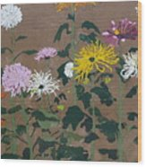 Smith's Giant Chrysanthemums Wood Print