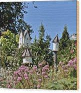 Birdhouses Wood Print