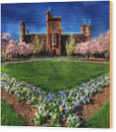 Spring Blooms In The Smithsonian Castle Garden Wood Print