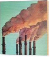 Smog Industrial II Wood Print