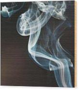 Smoke 10 Wood Print