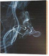 Smoke 5 Wood Print