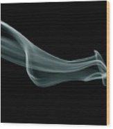 Green Smoke Abstract Wood Print