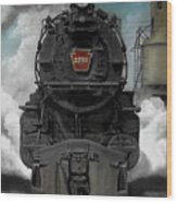Smoke And Steam Wood Print