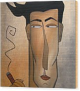 Smoke Break Wood Print by Tom Fedro - Fidostudio