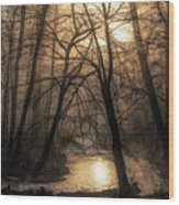 Smoke By The Water Wood Print