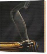 Smoke Diver Wood Print by Lynda Dawson-Youngclaus