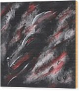 Smoke Dragon Wood Print