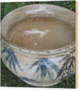 Smoke-fired Bamboo Leaves Bowl Wood Print