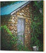 Smoke House Wood Print