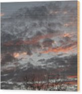 Smoke Like Clouds Wood Print