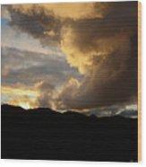 Smoke Like Sunset Wood Print