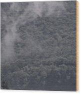 Smoke Off The Water Wood Print