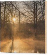 Smoke On The Water Wood Print