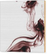 Smoke Photography - Red Wood Print