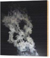 Smoke Skull Wood Print