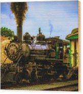Smoke Stack Steam Train Wood Print