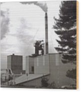 Smoke Stack Wood Print