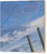 Smoke Stax Wood Print