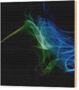 smoke VI Wood Print