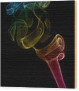 smoke XVI Wood Print